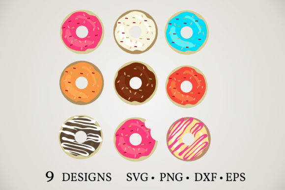 Donut Bundle  Graphic Print Templates By Euphoria Design