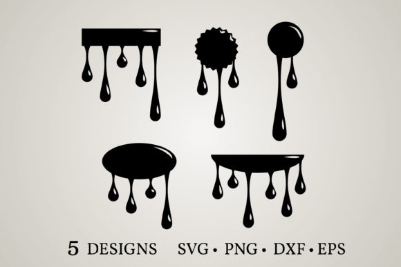 Download Free 6 Dripping Svg Designs Graphics for Cricut Explore, Silhouette and other cutting machines.