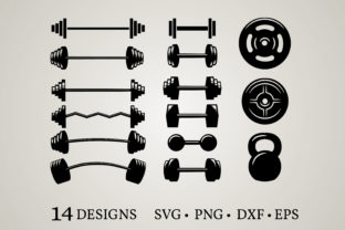 Dumbbell Clipart Graphic Crafts By Euphoria Design