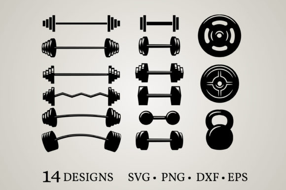 Dumbbell Clipart Graphic Print Templates By Euphoria Design