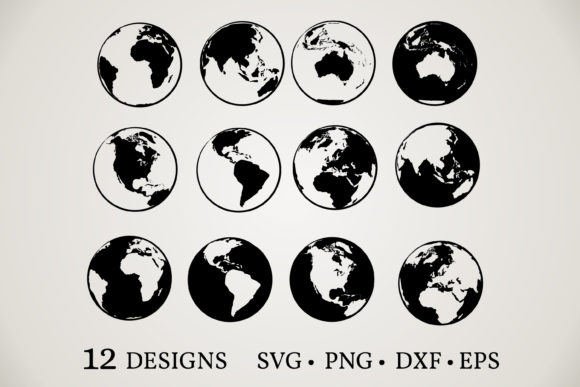 Planet Earth Clipart Graphic Print Templates By Euphoria Design