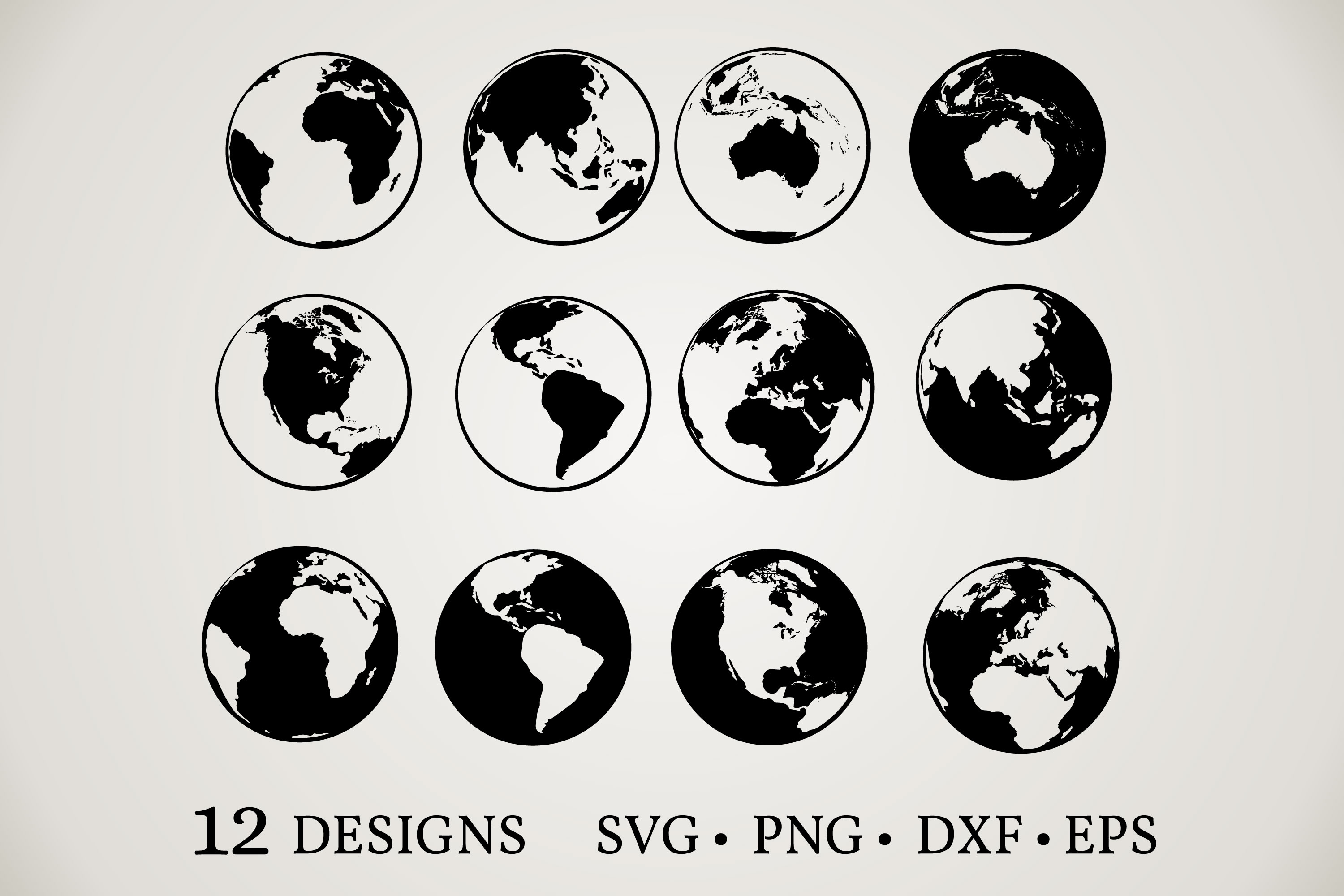 Planet Earth Clipart SVG File