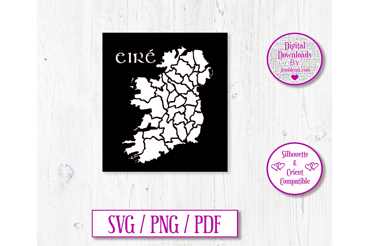 Download Free Eire 32 Counties Decal Ireland Graphic By Jumbleink Digital for Cricut Explore, Silhouette and other cutting machines.