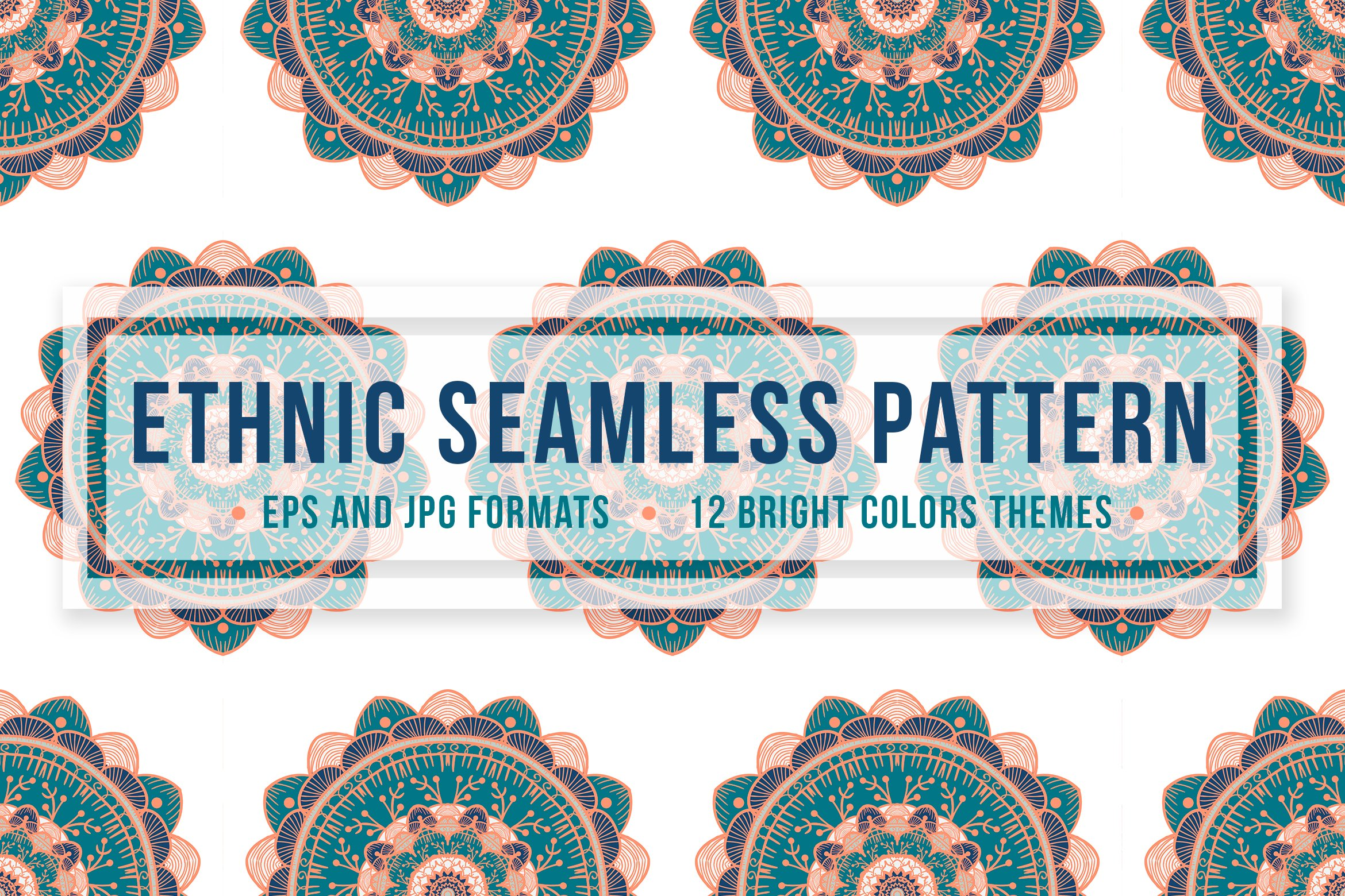 Download Free Ethnic Seamless Pattern Graphic By Barsrsind Creative Fabrica for Cricut Explore, Silhouette and other cutting machines.