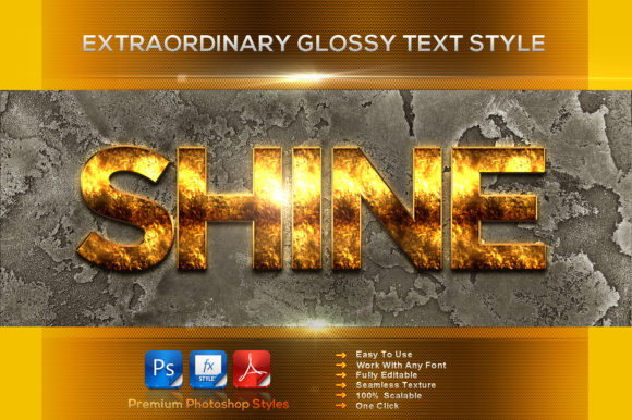 Extraordinary Glossy Text Style Graphic Layer Styles By MualanaDesign