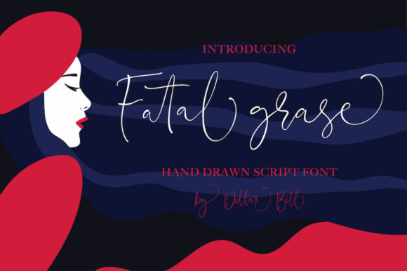 Download Free Fatal Grace Font By Billcreativestore Creative Fabrica for Cricut Explore, Silhouette and other cutting machines.