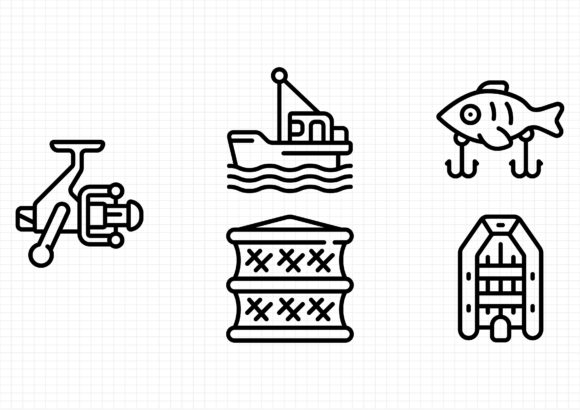 Download Free Fishing Graphic By Sayangnadyapkm3 Creative Fabrica for Cricut Explore, Silhouette and other cutting machines.