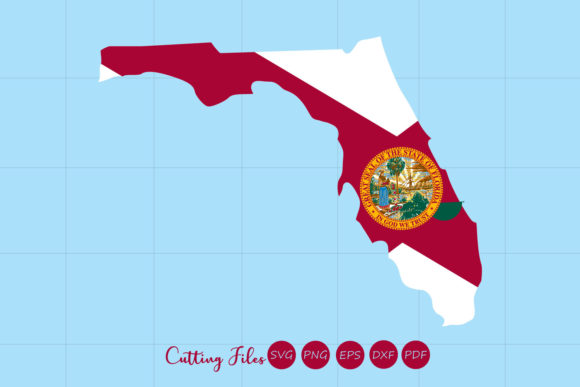 Download Free Florida State With Flag Background Graphic By Hd Art Workshop Creative Fabrica for Cricut Explore, Silhouette and other cutting machines.