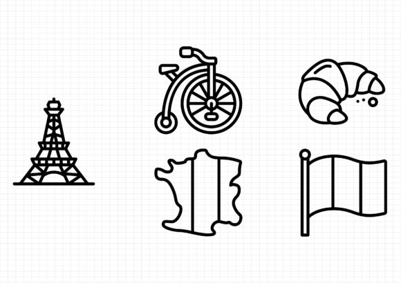 Download Free France Graphic By Sayangnadyapkm3 Creative Fabrica for Cricut Explore, Silhouette and other cutting machines.