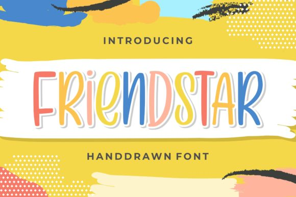 Print on Demand: Friendstar Display Schriftarten von goodjavastudio