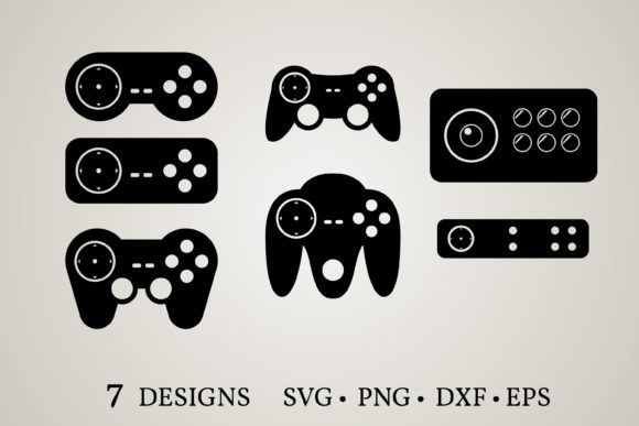Game Controller  Graphic Print Templates By Euphoria Design