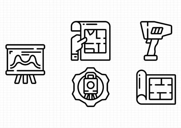Geodetic Survey and Measuring Graphic Icons By sayangnadyapkm3