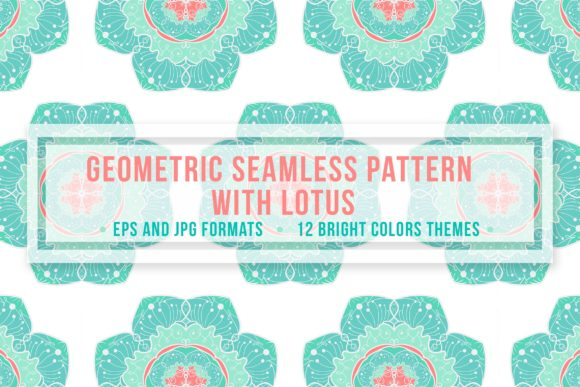 Geometric Seamless Pattern Lotus Graphic By Barsrsind