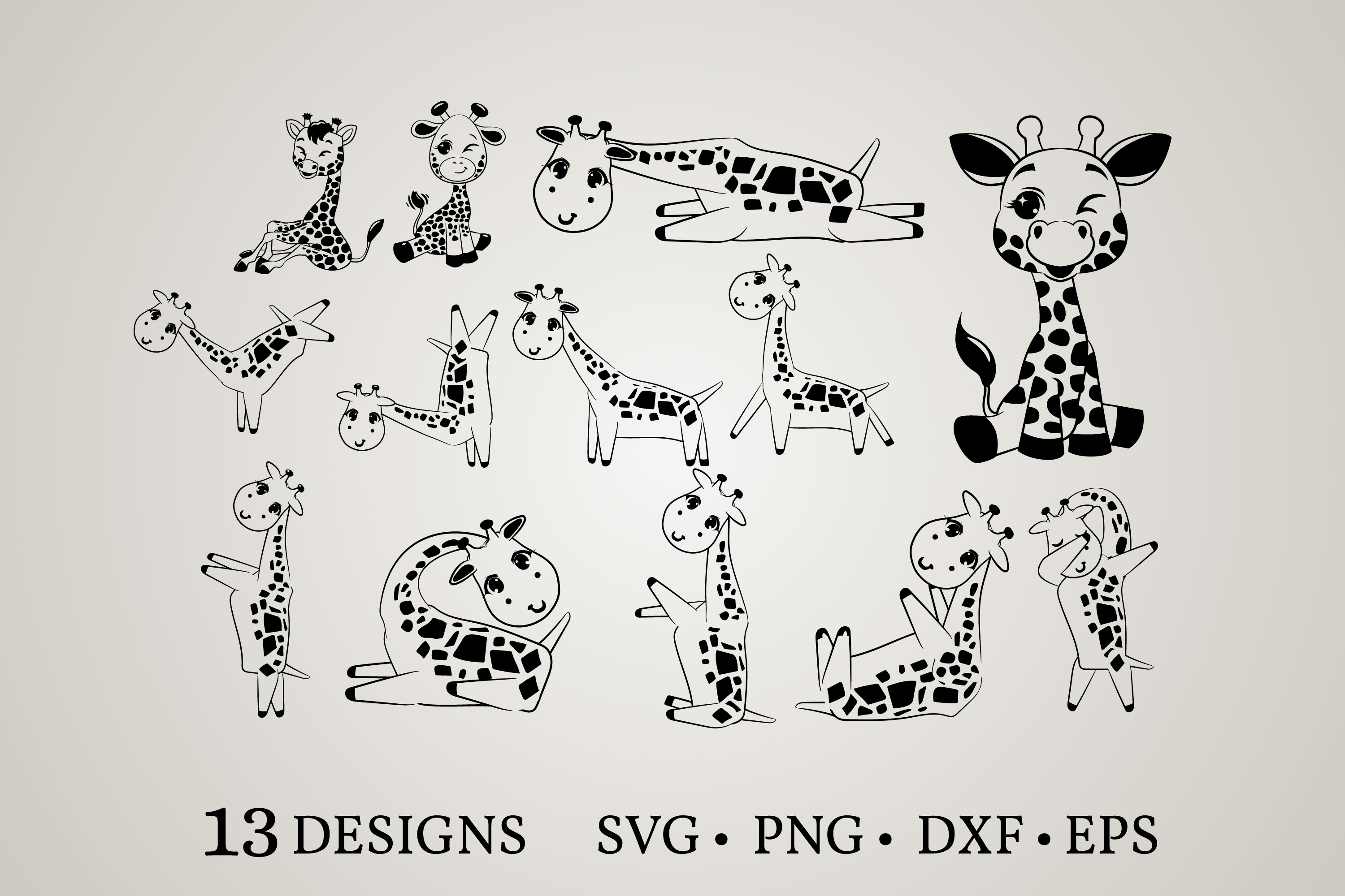 Download Free Giraffe Clipart Graphic By Euphoria Design Creative Fabrica for Cricut Explore, Silhouette and other cutting machines.