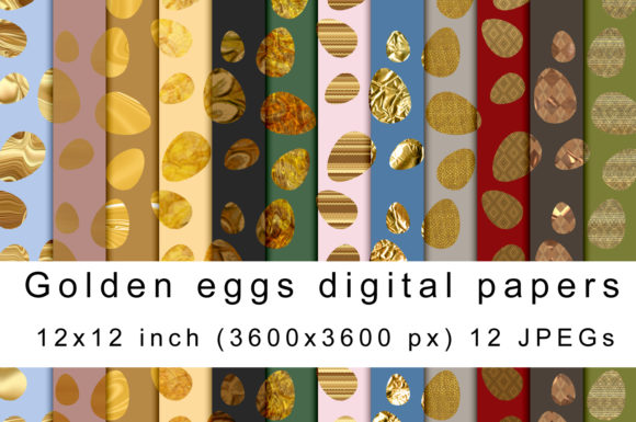 Download Free Golden Eggs Digital Papers Graphic By Andrea Kostelic Creative SVG Cut Files