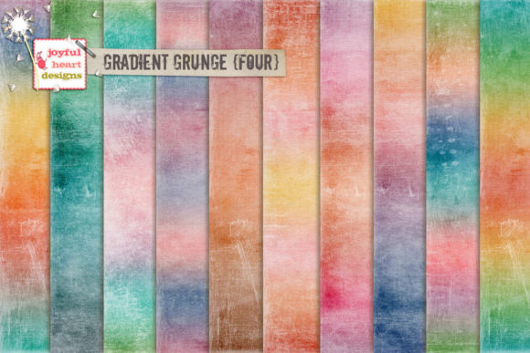 Gradient Grunge {four} Graphic Backgrounds By Joyful Heart Designs