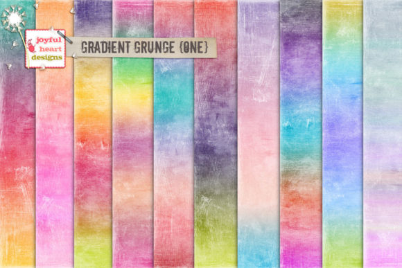 Gradient Grunge {one} Graphic Backgrounds By Joyful Heart Designs