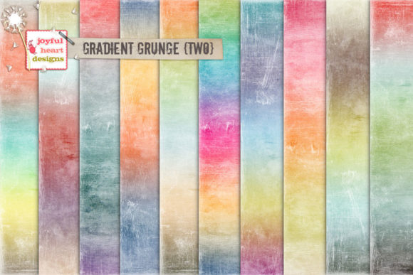 Gradient Grunge {two} Graphic Backgrounds By Joyful Heart Designs
