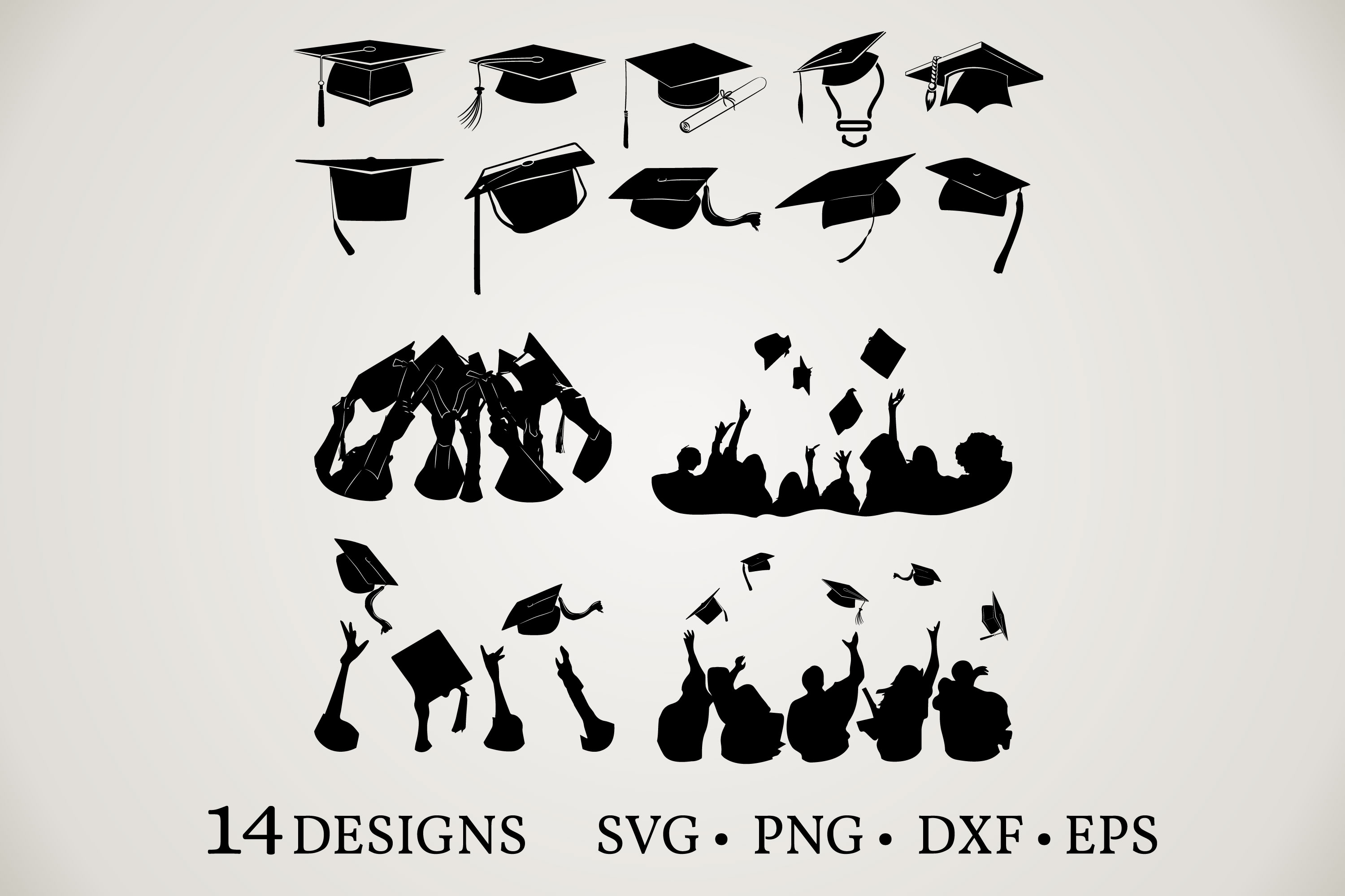 Download Free Graduation Bundle Graphic By Euphoria Design Creative Fabrica for Cricut Explore, Silhouette and other cutting machines.