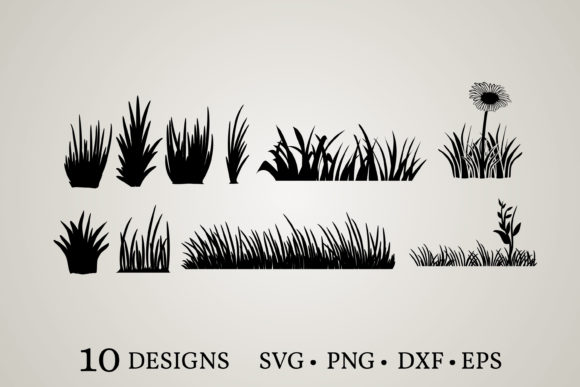 Grass Clipart Vector   Grafik Druck-Templates von Euphoria Design