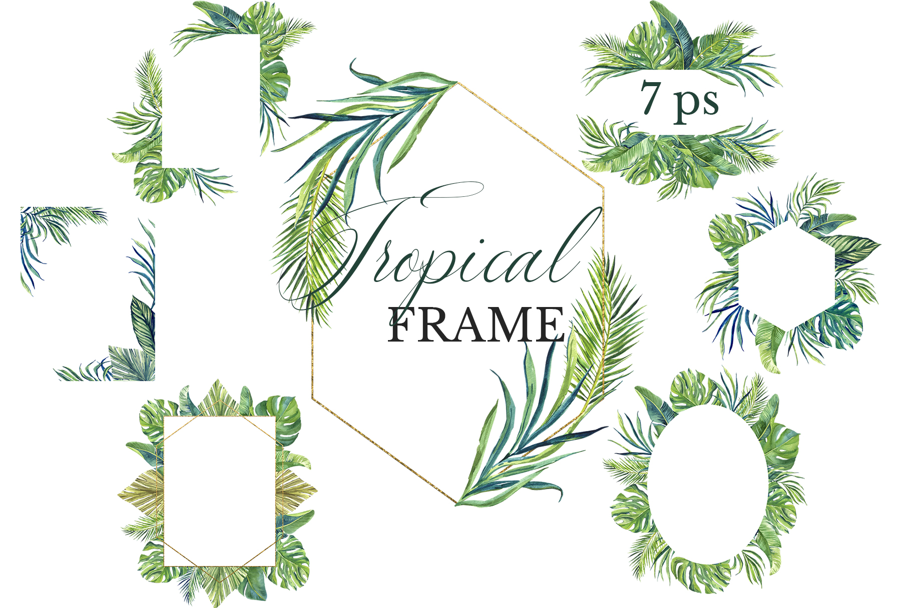 Download Free Greenery Frame Clipart Graphic By Lena Dorosh Creative Fabrica for Cricut Explore, Silhouette and other cutting machines.