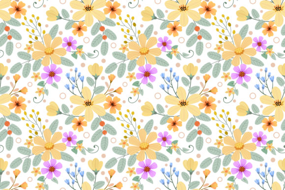 Hand Draw Flowers Seamless Pattern Graphic Patterns By ranger262