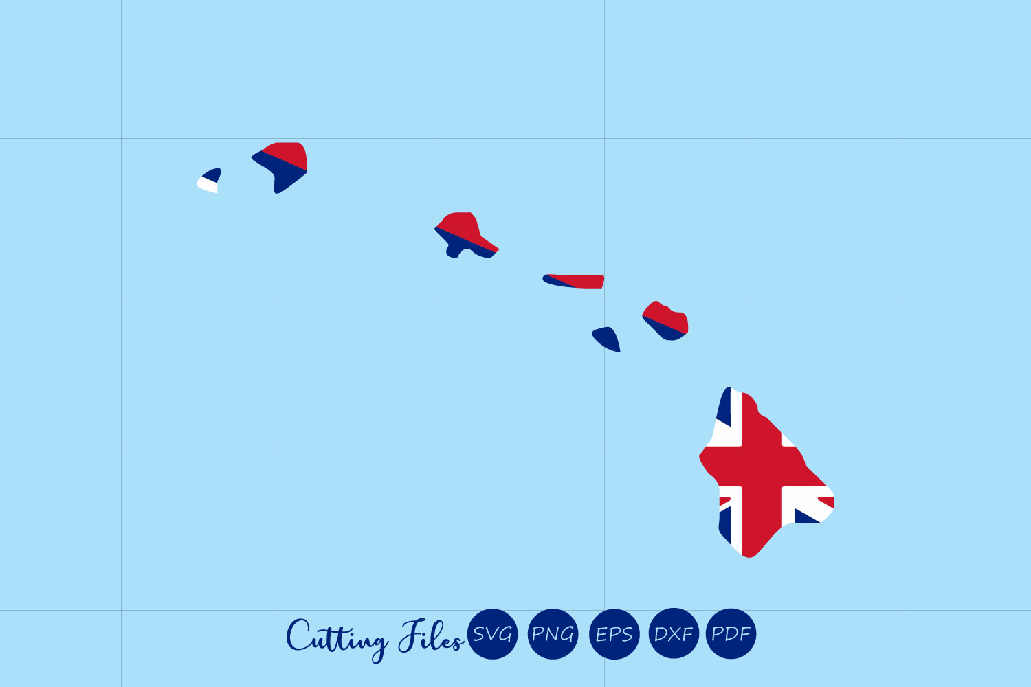 Download Free Hawaii State With Flag Background Graphic By Hd Art Workshop for Cricut Explore, Silhouette and other cutting machines.