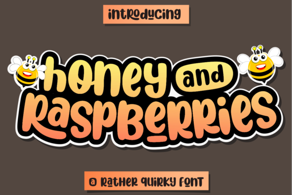Print on Demand: Honey and Raspberries Display Font By deedeetype