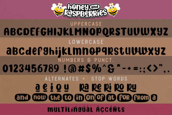 Print on Demand: Honey and Raspberries Display Font By estede75 - Image 8