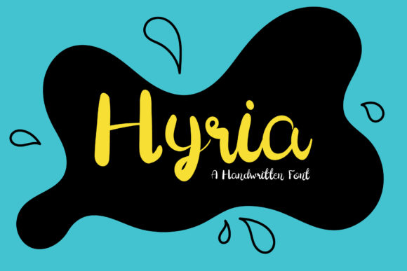 Download Free Hyria Font By Wanida Toffy Creative Fabrica for Cricut Explore, Silhouette and other cutting machines.