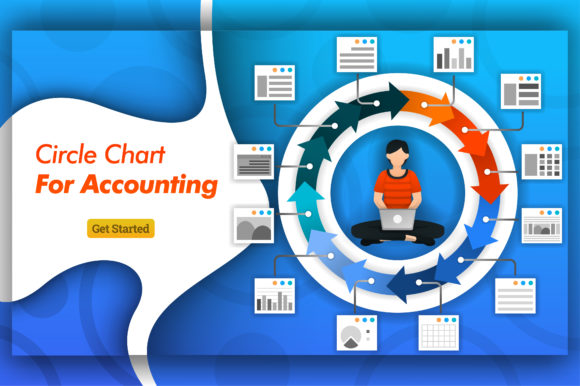 Print on Demand: Infographic Circle Chart for Accounting Graphic Graphic Templates By setiawanarief111