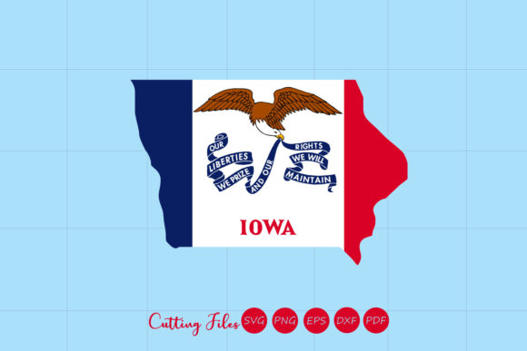Iowa State With Flag Background Graphic By Hd Art Workshop