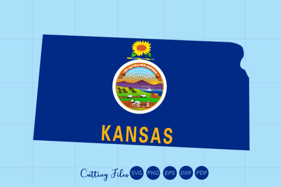 Download Free Kansas State With Flag Background Graphic By Hd Art Workshop for Cricut Explore, Silhouette and other cutting machines.
