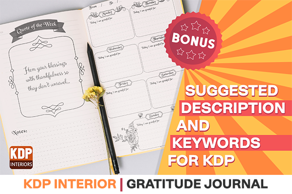 Print on Demand: Kdp Interior | Gratitude Journal Graphic KDP Interiors By KDP Interiors