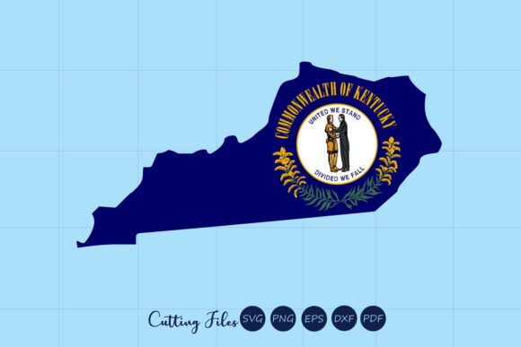 Download Free Kentuky State With Flag Background Grafico Por Hd Art Workshop for Cricut Explore, Silhouette and other cutting machines.