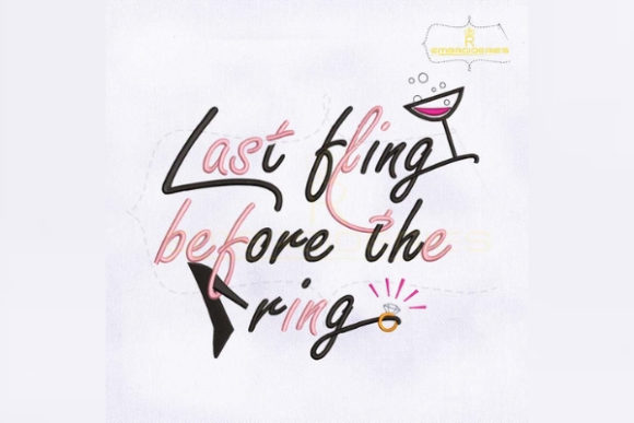 Last Thing Before the Ring Wedding Embroidery Design By RoyalEmbroideries