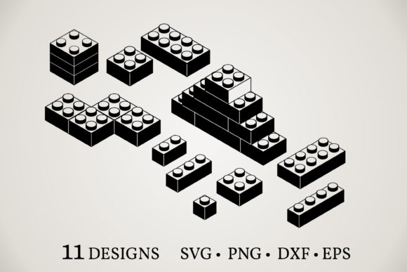 Lego Block Vector Graphic Print Templates By Euphoria Design