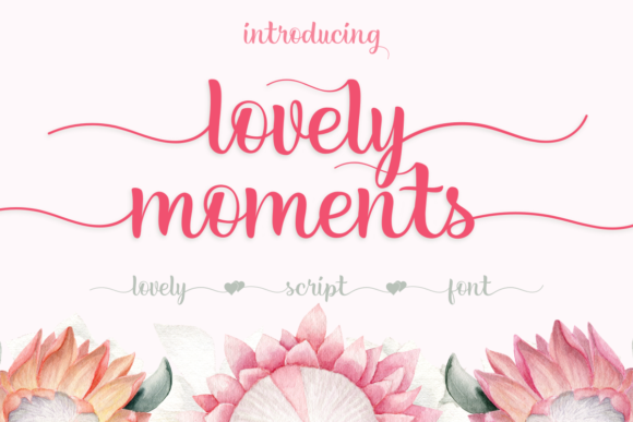 Print on Demand: Lovely Moments Script & Handwritten Font By estede75