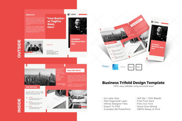Download Free Maroon Trifold Brochure Design Template Graphic By Rivatxfz SVG Cut Files