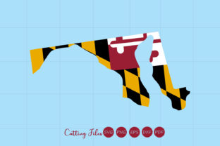 Maryland State With Flag Background Graphic By Hd Art Workshop