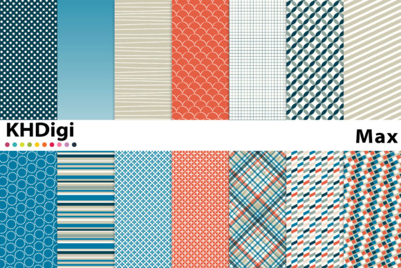 Print on Demand: Max Digital Paper Graphic Backgrounds By KHDigi