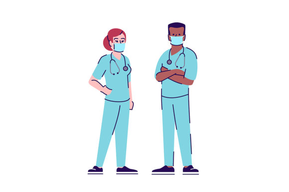Print on Demand: Medical Workers in Coronavirus Outbreak Graphic Illustrations By bsd studio