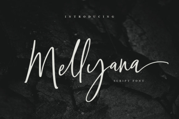 Print on Demand: Mellyana Script & Handwritten Font By Sizimon