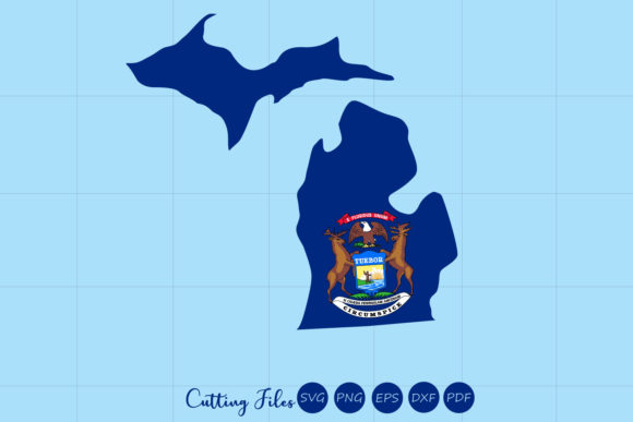 Download Free Michigan State With Flag Background Graphic By Hd Art Workshop for Cricut Explore, Silhouette and other cutting machines.