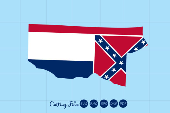 Mississipi State With Flag Background Graphic By Hd Art Workshop