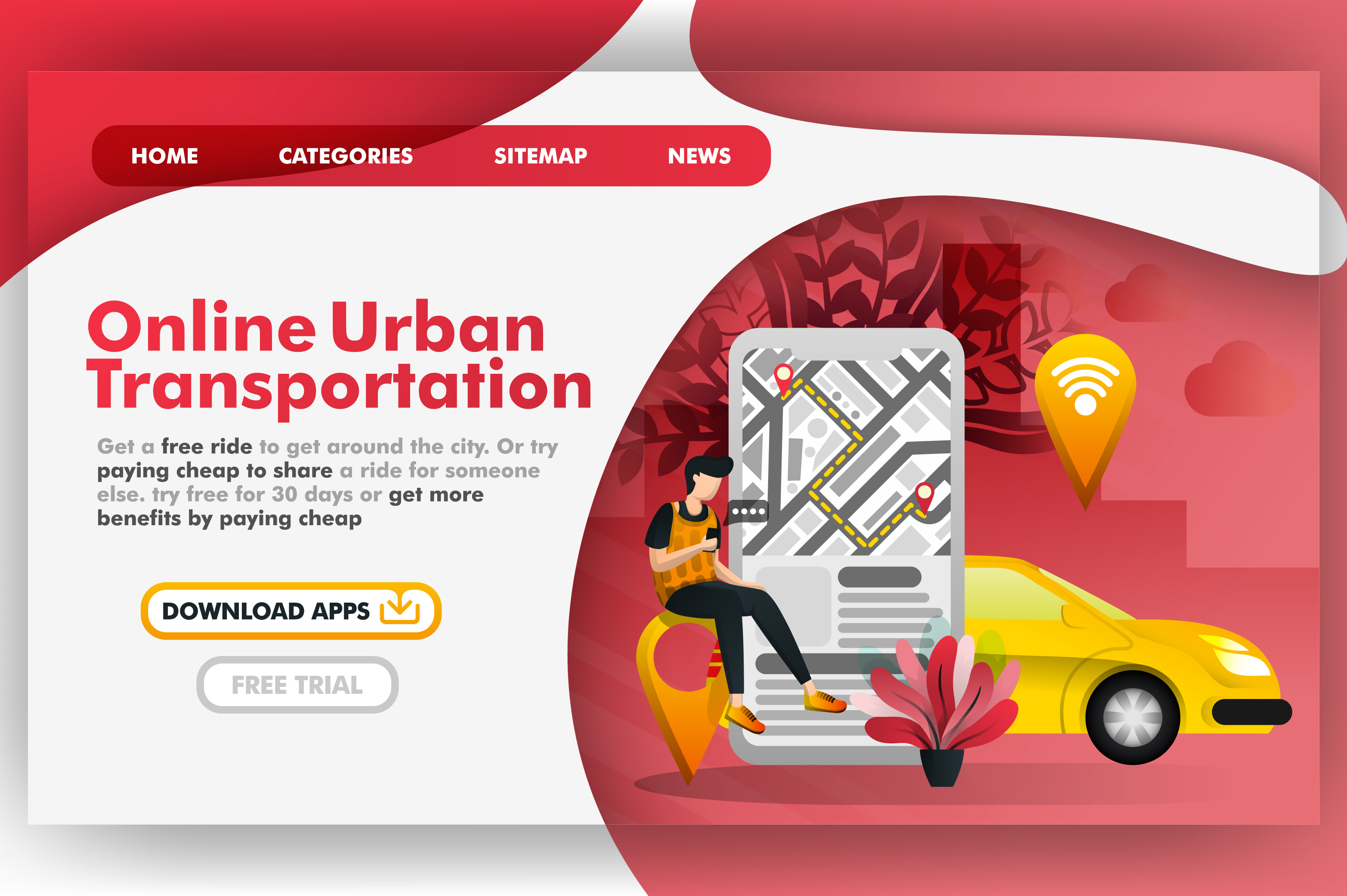 Download Free Mobile Urban City Transportation Graphic By Setiawanarief111 for Cricut Explore, Silhouette and other cutting machines.
