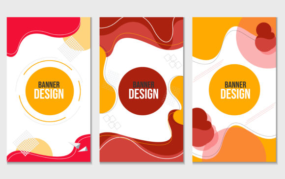 Modern Abstract Vector Banner Set Graphic Backgrounds By ngabeivector