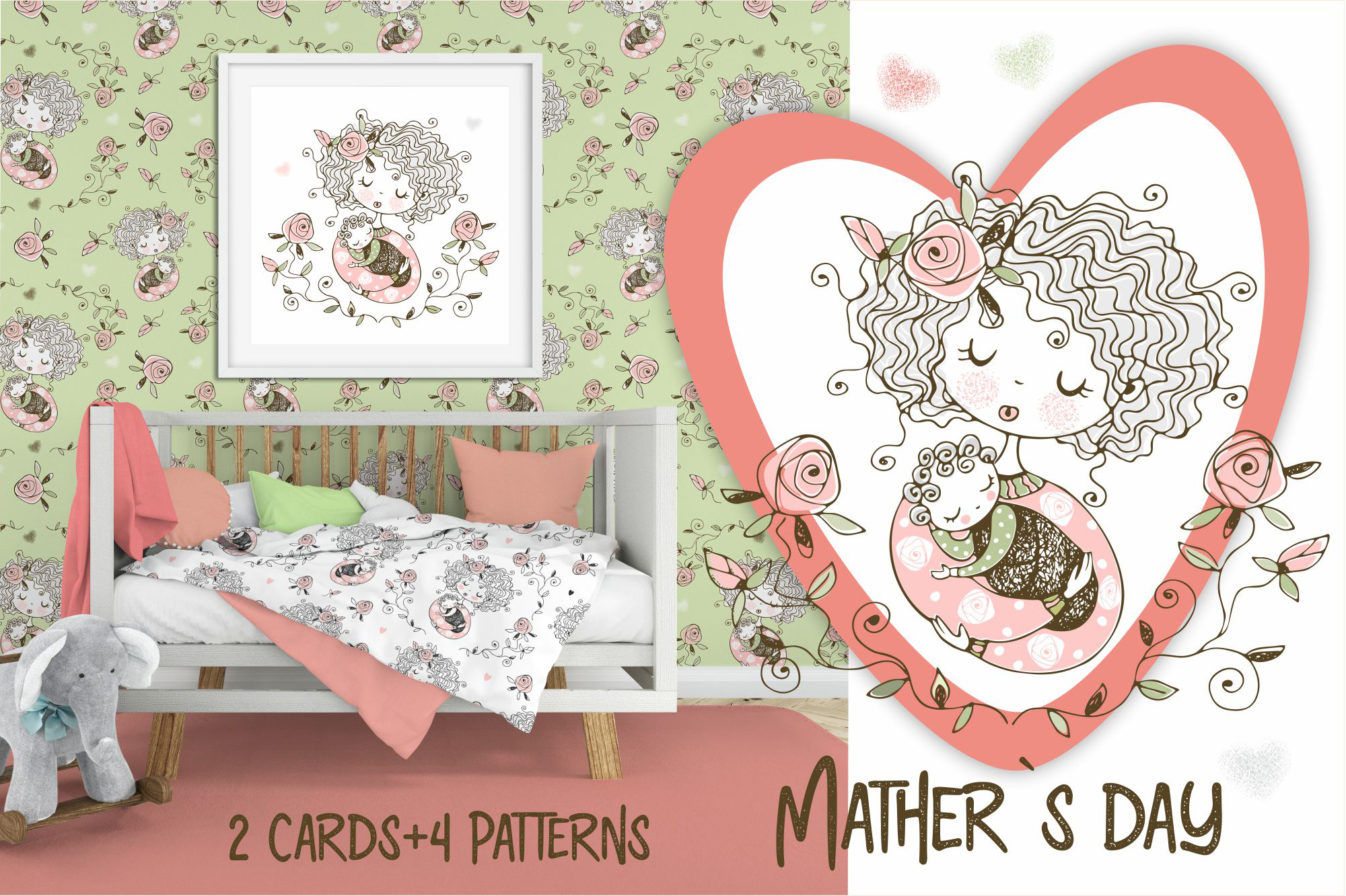 Download Free Mother S Day Graphic By Grigaola Creative Fabrica for Cricut Explore, Silhouette and other cutting machines.