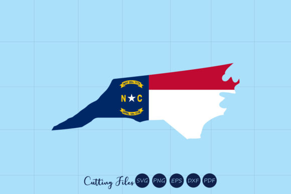 Download Free N Carolina State With Flag Background Graphic By Hd Art for Cricut Explore, Silhouette and other cutting machines.