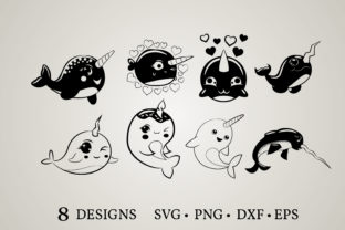 Narwhal Clipart Bundle  Graphic Crafts By Euphoria Design